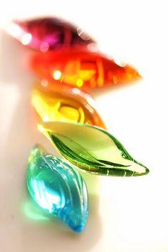 Colored glass shells