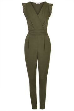 Frill Jumpsuit by Wal G from Top Shop NZ internet site (UK£38.00) I LOVE the khaki colour