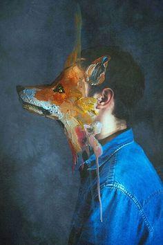 art, fox, and boy resmi