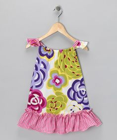 Take a look at this Magenta Modern Floral Shift Dress - Toddler & Girls by Beary Basics on #zulily today!