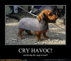 demotivational posters - CRY HAVOC!