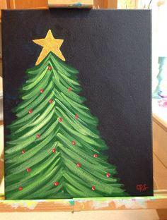 christmas tree painting New Diy Christmas Paintings Canvases Tree Canvas Ideas Christmas Projects, Holiday Crafts, Christmas Holidays, Christmas Decorations, Holiday Decor, Christmas Fashion, Christmas Christmas, Christmas Ideas, Christmas Glitter