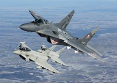 These Shots Of Fulcrums and Eurofighters Over Lithuania Are Amazing