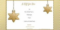 Christmas Gift Certificates Templates 5 Awesome Christmas Gift Certificate Templates To End Christmas Gift Certificate Template 11 Word Pdf Documents, Holiday Gift Certificate Templates Certificate Templates, Christmas Gift Voucher Templates, Christmas Gift Vouchers, Free Christmas Gifts, Free Christmas Printables, Homemade Christmas Gifts, Holiday Gifts, Diy Christmas, Christmas Decorations, Holiday Decor