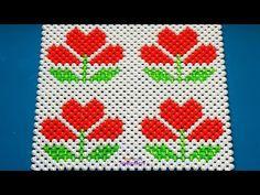 পুতির টেবিল ম্যাট/ How to make beaded table mat/ table mat Beaded Crafts, Beaded Ornaments, Diy Hair Bows, Diy Bow, Cute Cross Stitch, Cross Stitch Patterns, Beading Tutorials, Beading Patterns, Origami And Kirigami