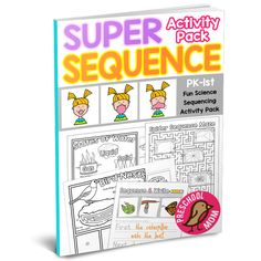 eBook PDF Format Sample Pages Super Sequence Activity Pack is filled with 30 pages of Science and Writing resources you can use in your classroom. Children build sequences and learn t… Dyslexia Teaching, Teaching Kids, Kids Learning, Kindergarten Homeschool Curriculum, Preschool Schedule, Kindergarten Science, Homeschooling, Sequencing Worksheets, Worksheets For Kids