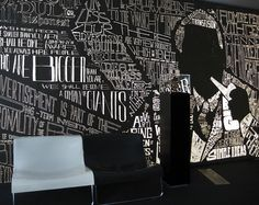 Ogilvy entrance (by David Rafachinho, via Behance) Typography Served, Typography Design, Commercial Interior Design, Commercial Interiors, Cool Wall Art, Showroom Design, Print Layout, Reception Areas, Layout Inspiration