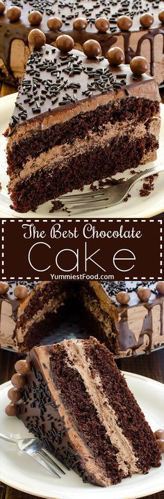 The BEST Chocolate Cake - great combination of chocolate and coffee