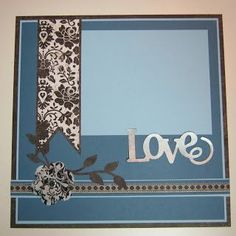 One Page Layout with Close to My Heart For Always Papers and Fabric #weddingscrapbooks