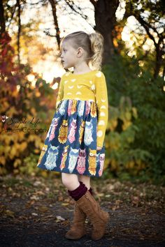 Isla's Infinity Tunic & Dress. PDF sewing pattern for toddler & girls sizes 2t-12. - Simple Life Company