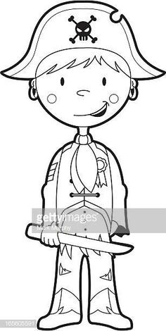 Colour In Pirate Boy Template Pirate Coloring Pages, Coloring For Boys, Animal Coloring Pages, Colouring Pages, Coloring Books, Preschool Pirate Theme, Pirate Party Games, Pirate Pictures, Pirate Boy