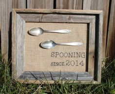 Spooning Gift Spooning Since Anniversary Gift by HeartOfHomeDesign