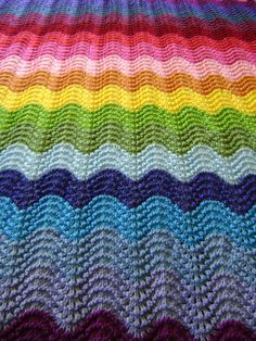 """NOTE: This listing is for the PDF PATTERN, written in American terms and not the actual blanket. Gorgeous in technicolor. Second in a series of 4 patterns. It measures 42"""" W x 54"""" L (107cm x 137cm) Inspired by my Technicolor Crocheted Blankets, here is the second in a series of"""