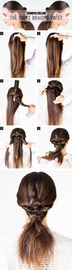 High Braided Twist Tutorial #cosmopolitan #howto #tutorial