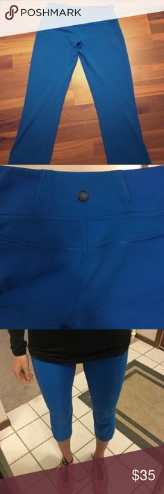 Size 4 Lululemon Crop Flare Capri Pants Size 4 Lululemon Crop Flare Capri Pants. Gently used, good condition. This is a re-posh item. They didn't fit me as well as I'd hope they would. lululemon athletica Pants Leggings