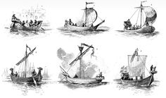 Hansa ships of the XIVth and XVth centuries.