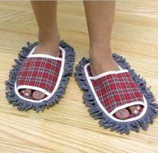 Mop slippers, great way to get the floor clean without the boredom and procrastination!