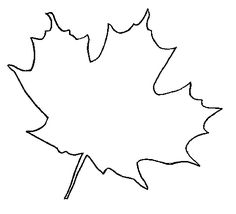 """leaf patterns to cut out   ... own leaf pattern. I searched under """"Leaf Outline"""" and found these"""