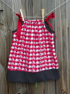 Picnic Pillowcase Dress Size 1824 months by busybonniebee on Etsy, $20.00