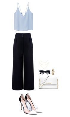 """""""Summer date?"""" by sarlota-krulisova on Polyvore featuring Être Cécile, MANGO, Gianvito Rossi, MICHAEL Michael Kors and Michael Kors"""
