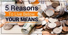 Don't miss our Top 5 Reasons To Live Below Your Means! These are important to remember as you work toward a healthier budget and financial future. Living Below Your Means, Reasons To Live, Dave Ramsey, Debt Payoff, Money Saving Tips, Organize, Tips For Saving Money, Saving Tips, Organisation