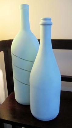 Being Happee: Spray Painted Wine Bottles