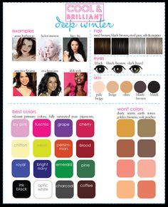 Deep Winter from Cool & Brilliant Palette
