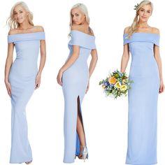 Sexy vestito lungo azzurro con lo spacco dietro  Taglia s  https://www.lorcastyle.it