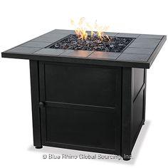 Opentip.com: UniFlame GAD1399SP Lp Gas Outdoor Firebowl With Slate Tile Mantel