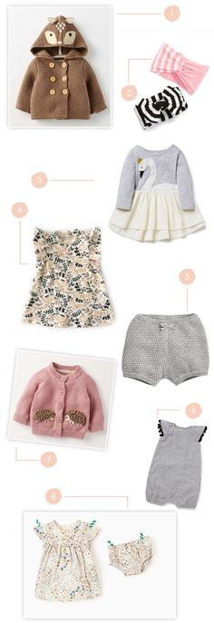 Our Fave Pieces for Baby Girl | lovelyindeed.com Love it! checkout www.sweetpeadeals.com for more baby clothes and Items up to 80% OFF!