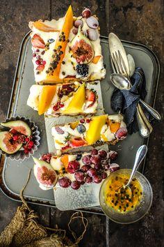 Tarte à la crème glacée et fruits frais - Ice cream fruit tart