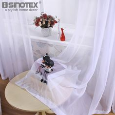 Cheap curtain voile, Buy Quality curtain voile fabric directly from China drape panel Suppliers: iSINOTEX Window Curtain Voile Fabric White Solid Transparent Sheer Living Room Tulle Voile Screening Drape Panel Home Decoration