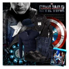 Captain America: Civil War by petri5 on Polyvore featuring polyvore 7 For All Mankind Superdry adidas Lacoste Reactor men's fashion menswear clothing