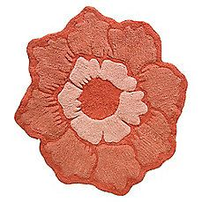 image of Jessica Simpson 26-Inch x 28-Inch Peony Bath Rug in Burnt Coral