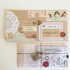 Envelope made by http://instagram.com/thedailyroe