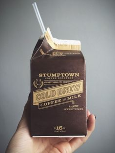stumptown cold brew coffee with milk