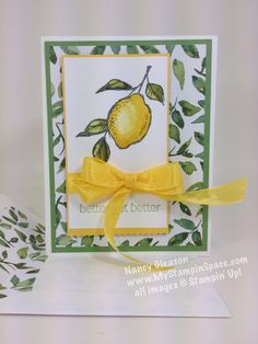 """A luscious lemon from the stamp set """"A Happy Thing"""". You can get this stamp set FREE from me for a limited time with a qualifying order!"""