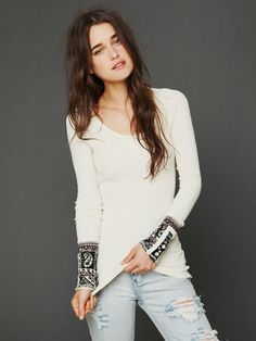 Free People Hippie Cuff Thermal, Moonstone