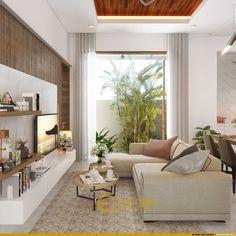 Desain Ruang Keluarga Rumah Ibu Rita di Jakarta Barat 4 Bali House, Urban Interior Design, House Rooms, House 2, Minimal House Design, Living Room Partition Design, Latest House Designs, Bungalow House Design, Home Room Design