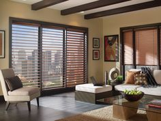 Hunter Douglas Aluminum Blinds are the lowest priced blinds and great window coverings for large windows. Patio Door Blinds, House Blinds, Wood Blinds, Blinds For Windows, Window Blinds, Porch Windows, Blinds Curtains, Roman Blinds, Large Windows