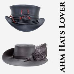 The lil evil top hats and the cavalier hat! Leather Top Hat, Fancy Hats, Top Hats, Custom Hats, Hat Making, Made In America, Cavalier, Latest Fashion Trends, Community