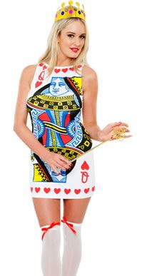 playing card costume | QUEEN OF HEARTS PLAYING CARD FANCY DRESS COSTUME OUTFIT, M (12-14 ...