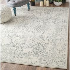 Living room rug? Found it at AllModern - Dorothea Ivory/Gray Area Rug