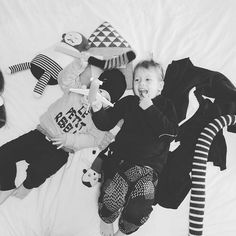 snowy day watching netflix and cuddling with the boys and by cuddling I mean climbing all over and hitting each other with toys...not near as relaxing and peaceful as I imagined   check out the new items we added to the sale section...le petit rebelle sweatshirt is in there...link in profile