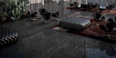Black Granite Home Floor ideas Imperial Exports India Grey Vinyl Flooring, Granite Flooring, Wide Plank Flooring, Grey Hardwood, Hardwood Tile, Dark Kitchen Floors, Modern Bathroom Tile, Pine Floors, Room Tiles