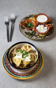Green Chilaquiles with Chicken #recipe