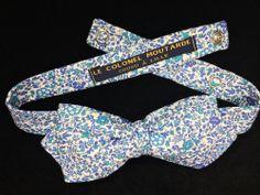 Noeud papillon Liberty Kattie et Millie bleu http://www.lecolonelmoutarde.com/product/noeud-papillon-liberty-kattie-millie-bleu