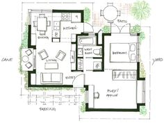 400 ft2 37 2 m2 studio cottage with sleeping loft by for Vancouver house plans