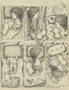 A Girl and Her Pet Rabbit: Drawings by Korean artist Coniglio
