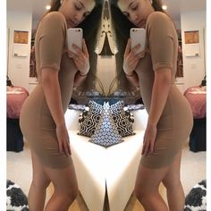 """Latte Ribbed Mini Brand new without tags. Gorgeous medium shade of nude, ribbed mini dress with capped sleeves and round neckline. Thinner material that is not see through, but lightweight and breathable for summer. Can be dressed up or down.  Stretchy fabric, pull on style without zipper. Yeezy vibes 💰  True to size. From a boutique brand.  •Made in the USA •92% polyester, 8% spandex •Size Medium: 31.5"""" top to bottom, 12"""" across chest   ❗️Use """"buy now"""" or """"add to bundle"""" to purchase…"""